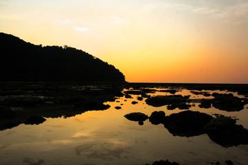 sunrise at the sea.thailand