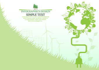 Abstract ecology connection concept background .Vector infograph