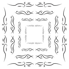 Set of tribal frames with place for your text. Vector illustration
