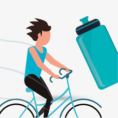 Healthy lifestyle design. Bodycare icon. Colorful illustration , vector