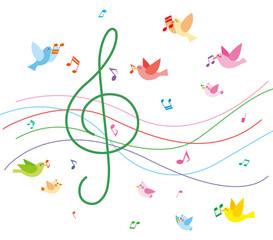 音楽と小鳥