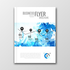 Business design background. Cover book report poster booklet brochure Magazine layout mockup template geometric shapes infographic, vector illustration