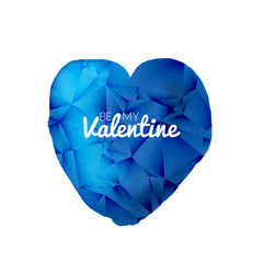 Vector blue valentine watercolor triangle heart shape