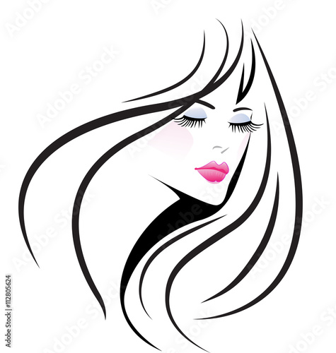 quotface girl woman logo vectorquot stock image and royaltyfree
