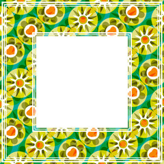 floral bright abstract border