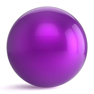 Sphere round button purple ball geometric shape basic circle