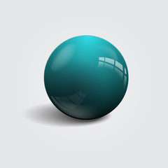 Realistic colorful ball. Vector illustration.