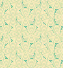 a stylized brain matter pattern seamless tile, in blue shades