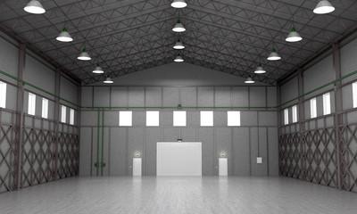 Interior storage space. 3D illustration