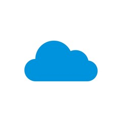 Logo cloud blue icon vector