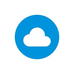 circle blue logo cloud round icon vector