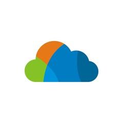 symbol logo cloud vector