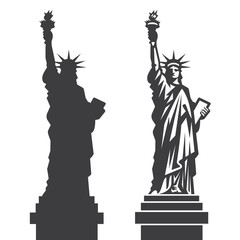 New York Statue of Liberty Vector silhouette