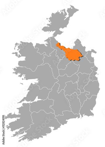 Map Of Ireland Cavan.Map Ireland Cavan Stock Image And Royalty Free Vector Files On