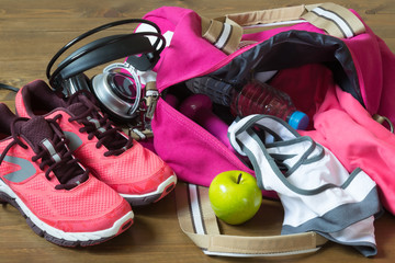 Things for the sport of pink bags