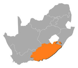 Map - South Africa, Eastern Cape