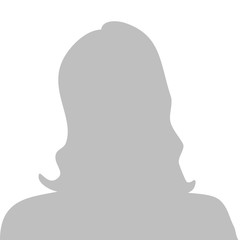 Profile picture illustration - woman, vector