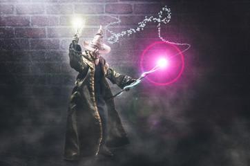 Wizard casting spells
