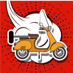 scooter pop art design