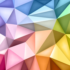 Low polygon shapes background, triangles mosaic, creative background, templates design, multicolor wallpaper, vector design
