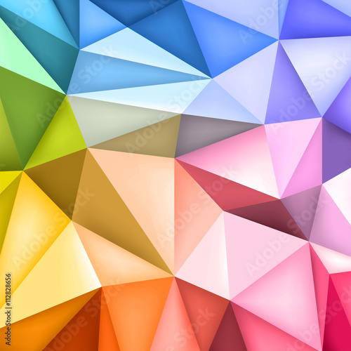 """Fotolip Com Rich Image And Wallpaper: """"Low Polygon Shapes Background, Triangles Mosaic, Creative"""