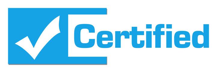 Certified Blue Horizontal Stripe