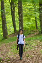 photographer young boy in nature