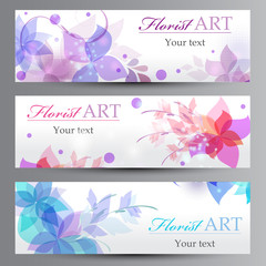 Banners with a flowers