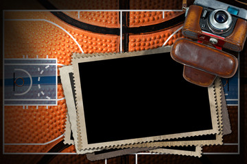 Basketball - Old Camera and Photo Frames