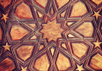 Vintage traditional Turkish wooden background