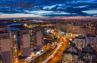 Night Kiev view