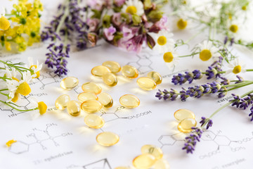 supplement on science sheet with herbs