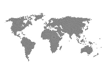 World map with Stars inside. Stars cloud in world map shape design