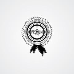 premium quality badge label