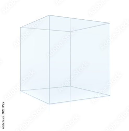 empty glass cube isolated stock photo and royalty free images on pic 112849425. Black Bedroom Furniture Sets. Home Design Ideas