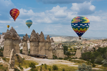 Air balloon over Love valley Cappadocia Turkey