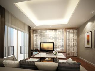 3d rendering of living