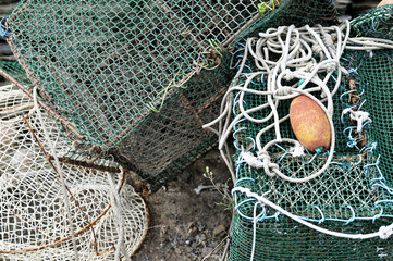 Commercial Fishing Net and Floats