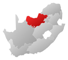 Map - South Africa, North West