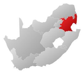 Map - South Africa, Mpumalanga