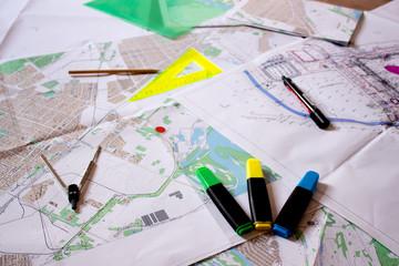 обзорные схемы и план площадки в строительстве