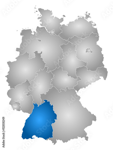 Map Germany Baden Wurttemberg Stock Image And Royalty Free