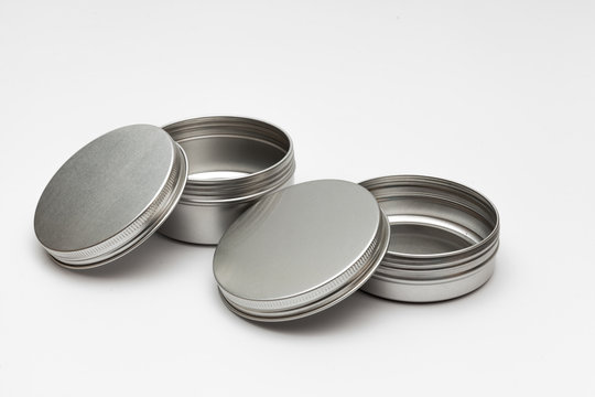 silver metal containers