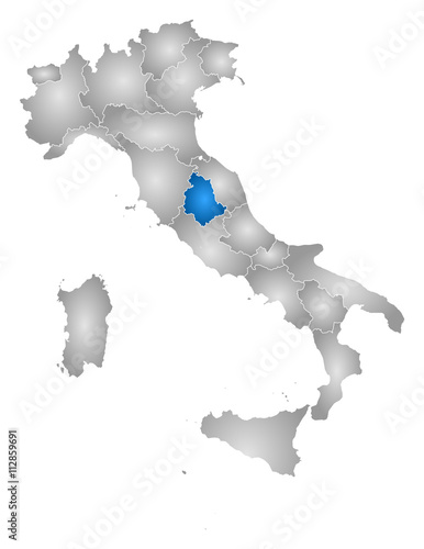 Map Italy Umbria Stock Image And Royalty Free Vector Files On
