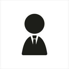 Businessman icon in simple black design