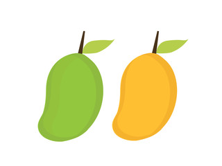 Mango in flat style. Mango vector logo. Mango icon. Isolated