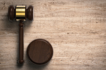 gavel judge with blank space