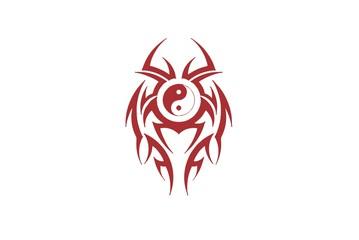Yin Yang Tribal design