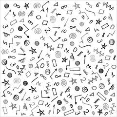 School background pattern. Lettering. Making notebooks, textbooks, for web design. Vector illustration.