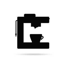 coffee machine black icon illustration